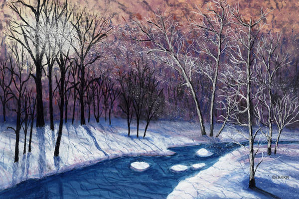 Pastel - Glistening Branches by George Burr