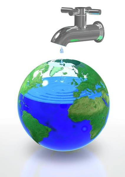 Wall Art - Photograph - Global Water Shortage by Animated Healthcare Ltd/science Photo Library