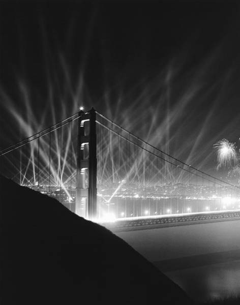 Wall Art - Photograph - Golden Gate Bridge Opening by Underwood Archives