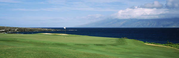 Kapalua Photograph - Golf Course At The Oceanside, Kapalua by Panoramic Images