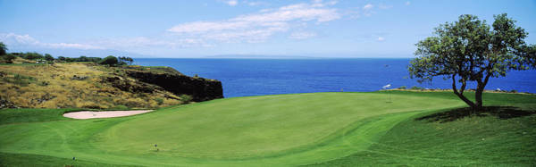 Lanai Photograph - Golf Course At The Oceanside, The by Panoramic Images