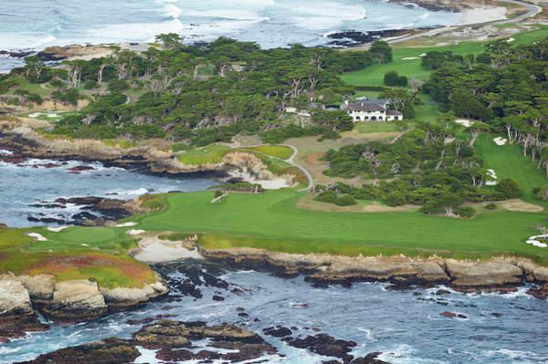 Pebble Beach Golf Course Photograph - Golf Course On An Island, Pebble Beach by Panoramic Images
