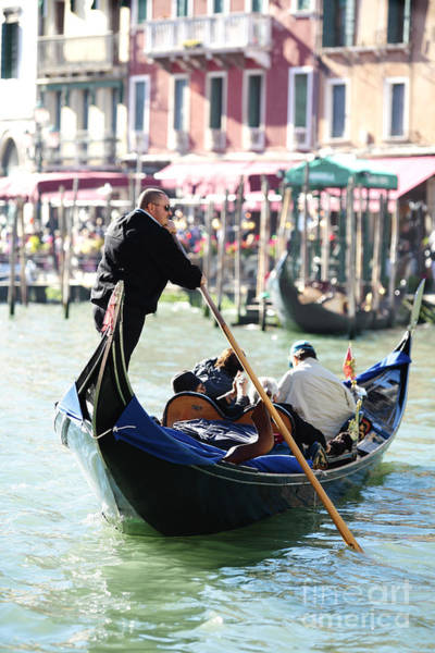 Photograph - Gondola On The Grand Canal by Paul Cowan