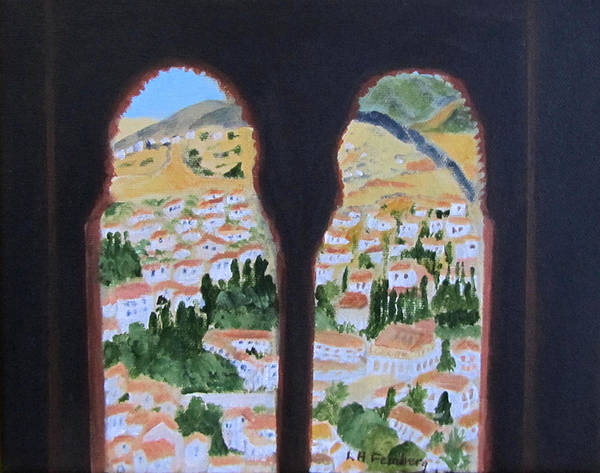 Painting - Granada In 1970 by Linda Feinberg