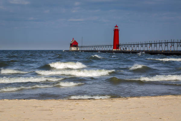 Photograph - Grand Haven Lighthouse Mi by Jack R Perry