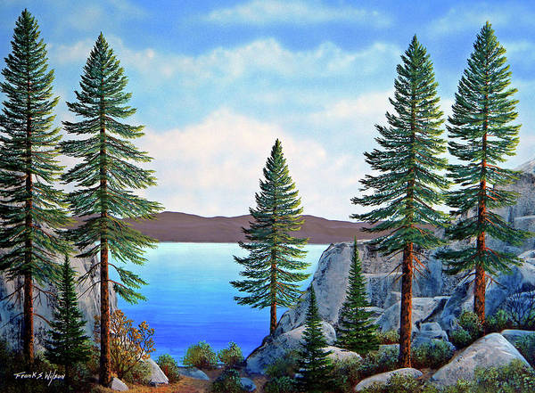 Painting - Granite Boulders Lake Tahoe by Frank Wilson