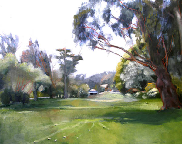 Painting - Great Meadow Golden Gate Park by Suzanne Cerny