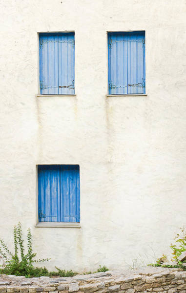 Window Photograph - Greek House by Tom Gowanlock