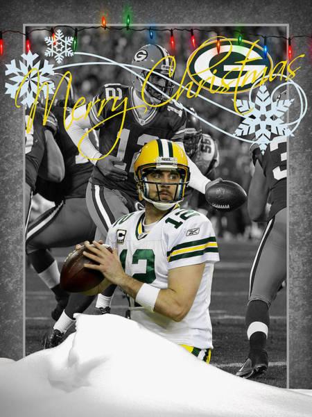 Wall Art - Photograph - Green Bay Packers Christmas Card by Joe Hamilton