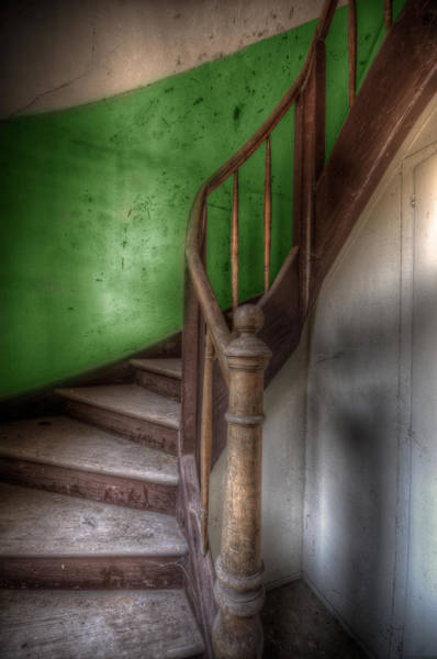 Debris Digital Art - Green Stairs by Nathan Wright