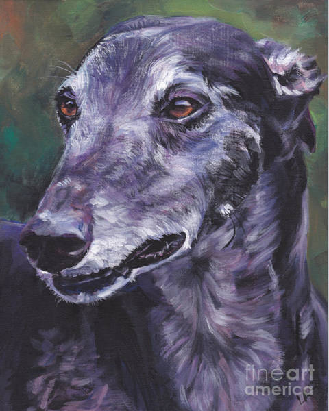 Wall Art - Painting - Greyhound by Lee Ann Shepard