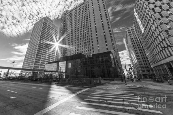 Woodward Photograph - Guardian And One Woodward Avenue Buildings by Twenty Two North Photography