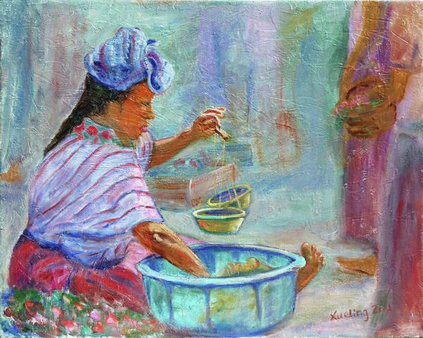 Painting - Guatemala Impression Iv by Xueling Zou