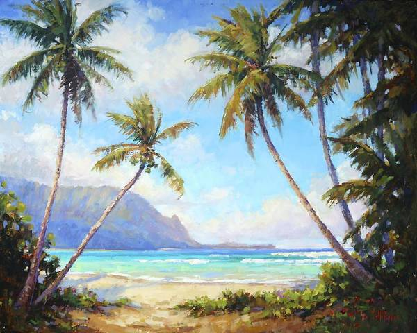 Hawaii Wall Art - Painting - Hanalei Bay by Jenifer Prince