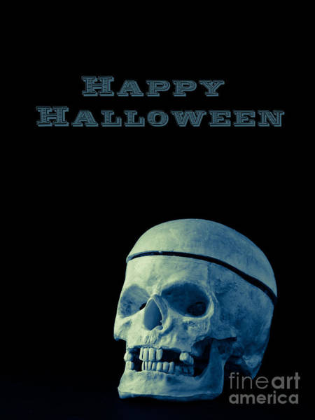 Skulls Wall Art - Photograph - Happy Halloween Card 2 by Edward Fielding