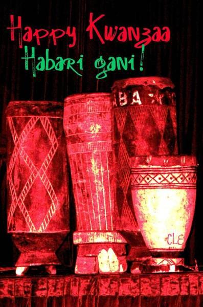 Photograph - Happy Kwanzaa Habari Gani by Cleaster Cotton
