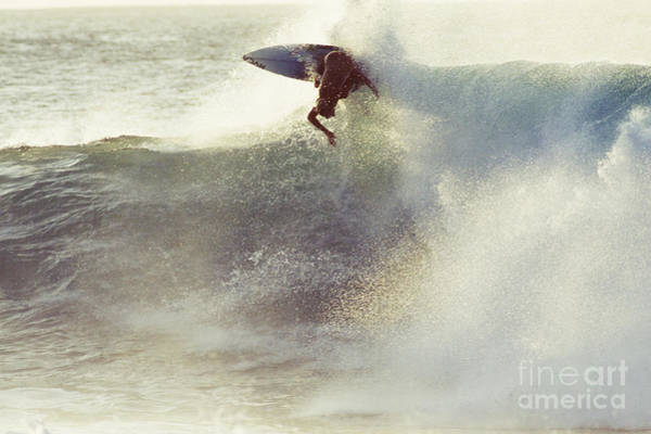 Wall Art - Photograph - Hawaii, Oahu, North Shore, Surfer Carving Wave. by Vince Cavataio