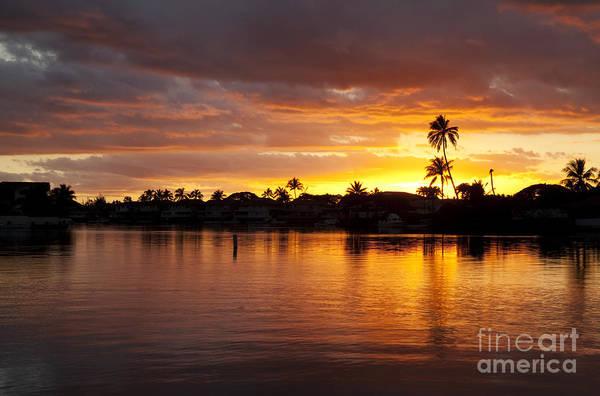 Photograph - Hawaiian Sunset by Charmian Vistaunet