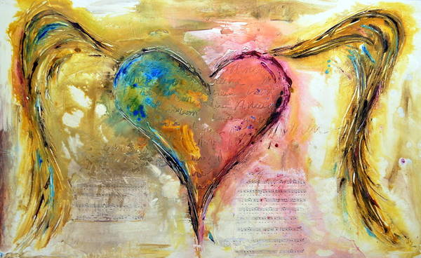 True Love Wall Art - Painting - Heart Of A Lover by Ivan Guaderrama