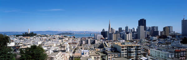 Coit Tower Photograph - High Angle View Of A City, Coit Tower by Panoramic Images