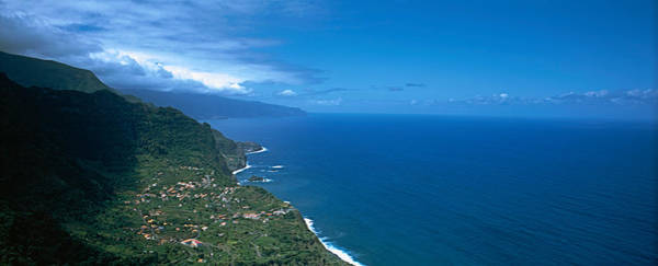 Azores Photograph - High Angle View Of A Coastline by Panoramic Images