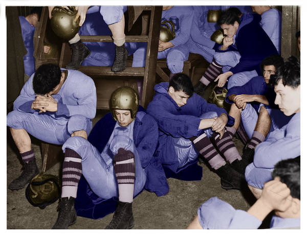 Photograph - High School Locker Room Gloom By Walter Albertin by Celestial Images