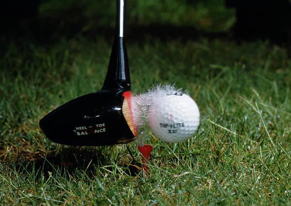 High Speed Photograph - High Speed Photograph Of A Golf Ball Strike by Stephen Dalton/science Photo Library