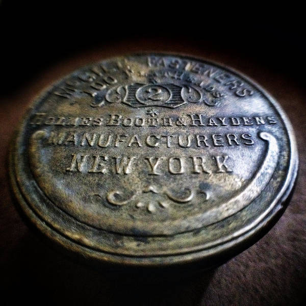Photograph - Holmes Booth And Haydens Vintage Fastener Tin by Natasha Marco