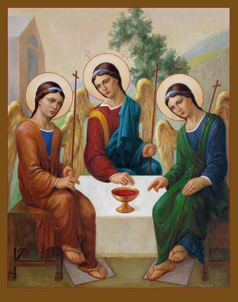 Wall Art - Painting - Holy Trinity - Sanctae Trinitatis by Svitozar Nenyuk