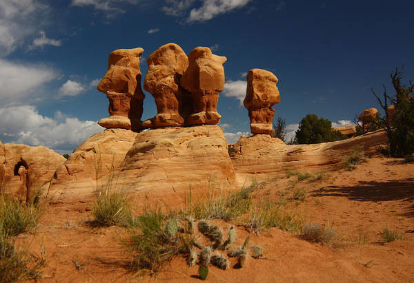 Photograph - Hoodoos In Devils Garden In Grand Staircase Escalante National Monument by Jean Clark