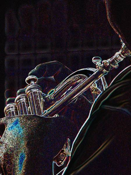 Photograph - Horn Player 71 by Jerry Sodorff