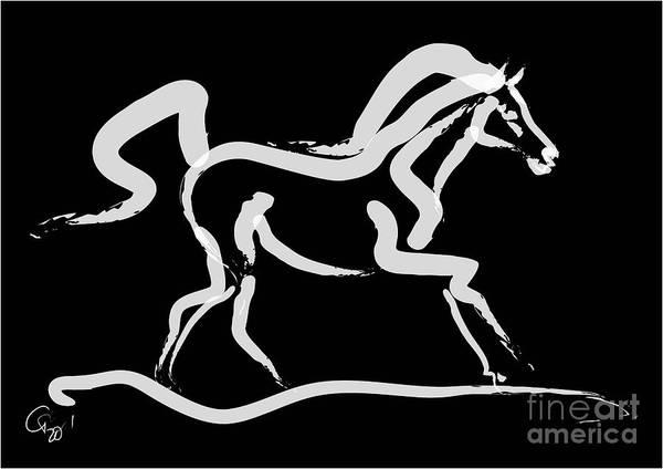 Painting - Horse-runner by Go Van Kampen