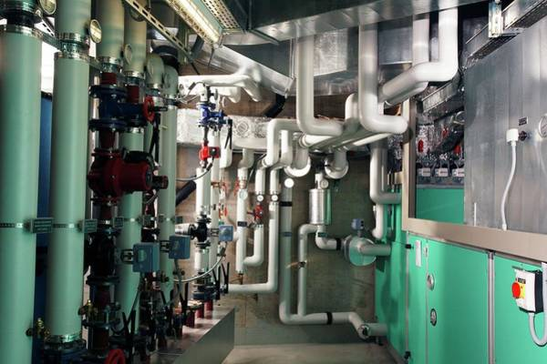 Boiler Photograph - Hospital Boiler Room by Mauro Fermariello/science Photo Library