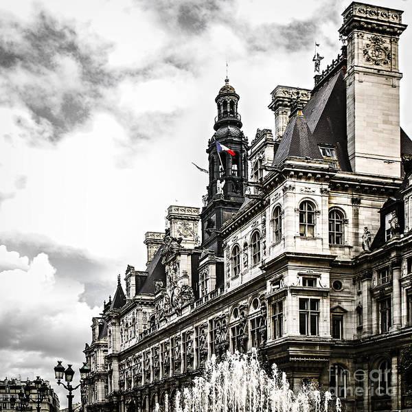 Wall Art - Photograph - Hotel De Ville In Paris by Elena Elisseeva