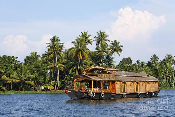 Houseboat Photograph - Houseboats On The Kerala Backwaters by Robert Preston