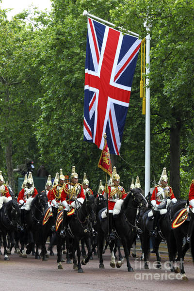 Photograph - Household Cavalry Life Guards by James Brunker