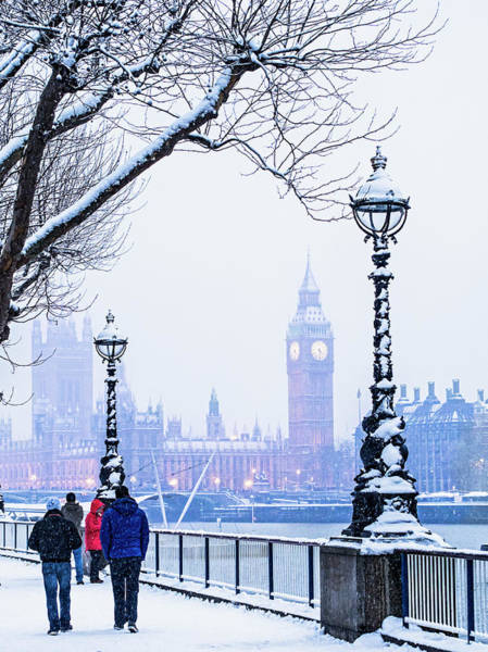 The Clock Tower Photograph - Houses Of Parliament In The Snow by Doug Armand