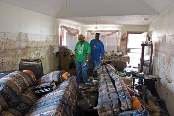 Mud House Photograph - Hurricane Katrina Damage by Jim West
