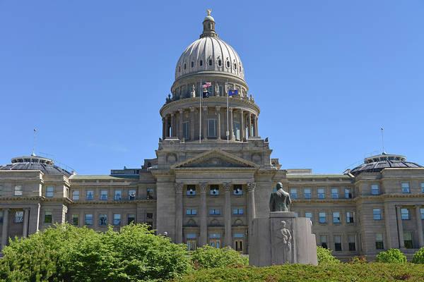 Court House Photograph - Idaho State Capitol, Boise, Idaho, Usa by Gerry Reynolds