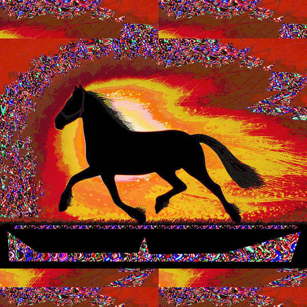Digitalart Painting - If Mind Is A Horse You Need Your Heart And Soul To Control It For The Right Pace And Direction  Succ by Navin Joshi
