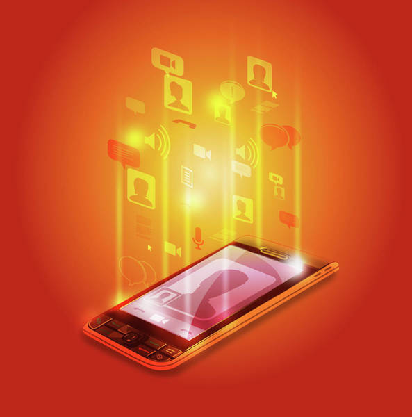 Wall Art - Photograph - Illustration Of Mobile Phone by Fanatic Studio / Science Photo Library