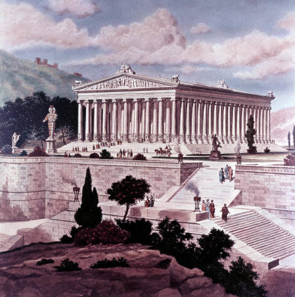 Artemis Wall Art - Painting - Illustration Seven Wonders by Vintage Images