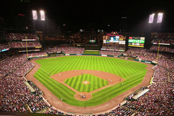 Busch Photograph - In A Night Game And A Light Rain Mist by Panoramic Images