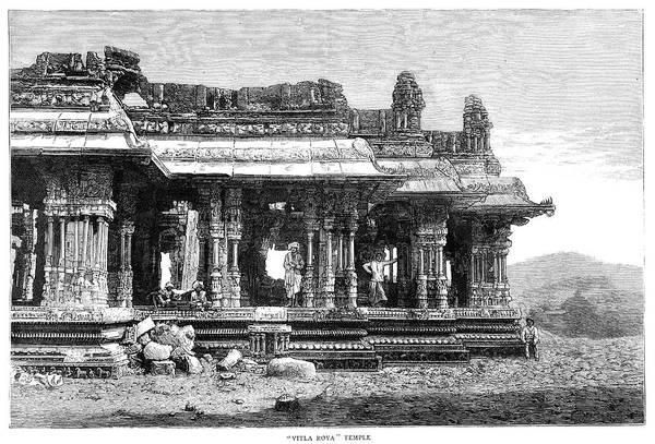 Painting - India Hampi Ruins, 1885 by Granger