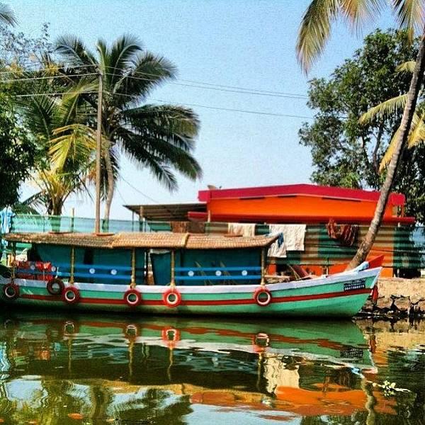 Wall Art - Photograph - India #india #lake #boat by Marina Boitmane