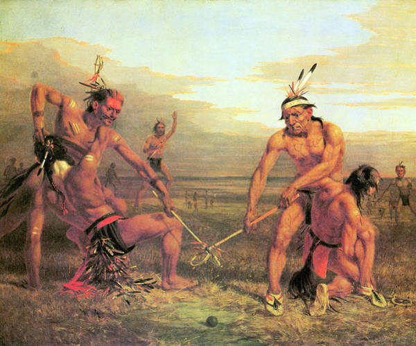 Sagebrush Photograph - Indian Ball Game by Charles Deas