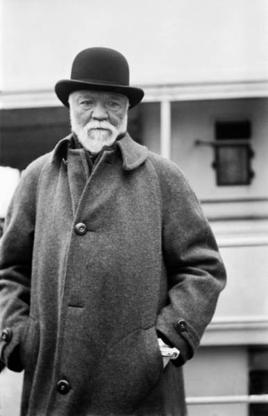 Jacket Photograph - Industrialist Andrew Carnegie by Underwood Archives