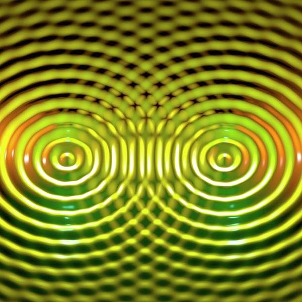 Wavelength Photograph - Interference Patterns by Russell Kightley