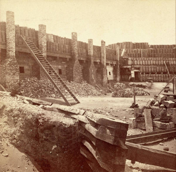 Fort Sumpter Photograph - Interior Of Fort Sumpter I.e. Sumter, Charleston Harbor by Litz Collection