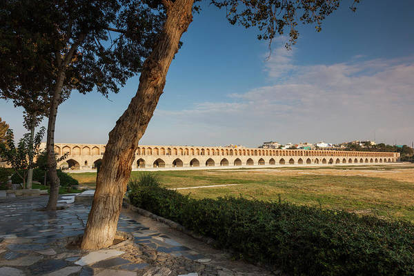 Central Asia Photograph - Iran, Esfahan, Si-o-seh Bridge, Dawn by Walter Bibikow